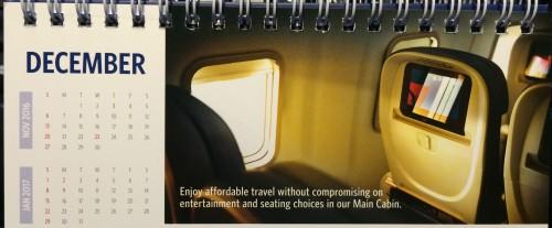 デルタ航空2016年カレンダー