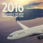 デルタ航空2016カレンダーが届きました